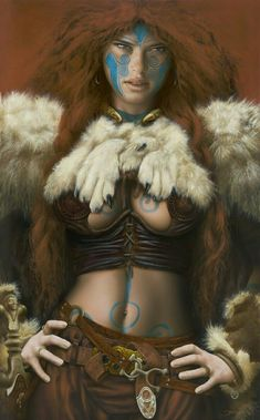 Official website of Jim Burns: science fiction illustrator and fantasy artist Character Portraits, Character Art, Character Inspiration, Warrior Girl, Fantasy Warrior, Warrior Women, Fantasy Women, Fantasy Girl, Fantasy Characters
