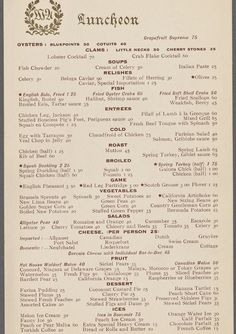 The Waldorf Astoria Hotel, 1914 vs. Peacock Alley at the Waldorf Astoria, 2014 | What NYC Restaurant Menus Looked Like 100 Years Ago Vs. Today