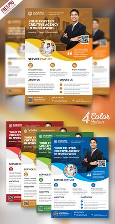 Modern Corporate Flyer PSD Bundle