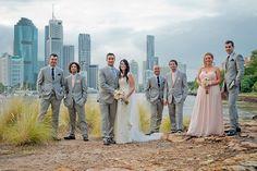 Alexis & Josh's elegant vintage wedding on the Brisbane River