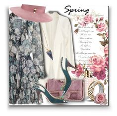"""Spring time..."" by qiou ❤ liked on Polyvore featuring Phase Eight, Zimmermann, Tory Burch, Gigi Burris Millinery, Valentino, John Hardy, Chanel and Giuseppe Zanotti"
