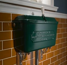 Low Level Cast Metal Cistern - Powder Coated available now from Thomas Crapper & Co Ltd Thomas Crapper, British Bathroom, Traditional Toilets, Luxury, Classic, Outdoor Decor, Google Search, Home Decor, Derby