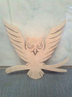 Un pequeño búho....luego lo pintaré. Owl on branch