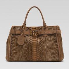 Gucci 247179 Ejg1t 2814 Gg Running'Large Tote mit Lederg��rtel Gucci Damen Handtaschen