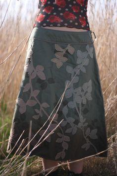 Upcycled hippy skirt by HappyHippyShop on Etsy