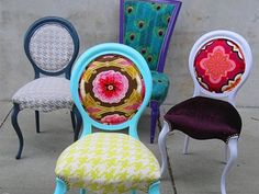 """Fabulously Bold, Recycled """"Divine"""" Chairs By Kitty McBride"""