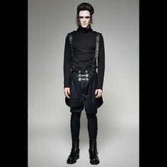 military elastic twill denim baggy gothic pants for men Gothic Pants, Punk Rave, Men In Uniform, Navy Blue, Military, Men's Pants, Denim, Outfits, Steampunk