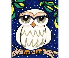 White Owl Childrens Room Decoration Kids Wall by AGirlAnOwlAndACat.etsy.com all rights reserved. $7.50