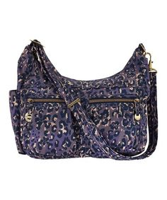 Another great find on #zulily! Purple Leopard Travel RFID Hobo #zulilyfinds