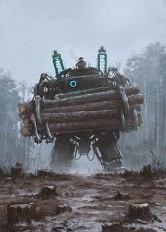 Avec ses illustrationsrétro-futuristes, l'artisteJakub Rozalski, aka Mr. Werewolf, imagine un passé sombre et angoissant, peuplé de machines de guerre et