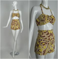 KAMEHAMEHA Hawaiian 1950's Cotton Two Piece by RubyFayesVintage