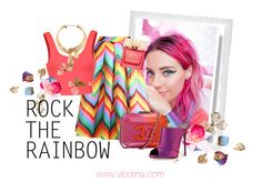 """Rock The Rainbow"" by vicotina ❤ liked on Polyvore featuring Nasty Gal, Relaxfeel, Ally Fashion, Polaroid, Chanel, Kate Spade, Schield Collection, Piers Atkinson, Giuseppe Zanotti and women's clothing"
