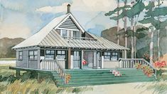 Beach Bungalow, Plan #243 | These will make everything easy and breezy. Southerners love to escape to the beach for much-needed relaxation and a taste of carefree living, and we dream about having a coastal oasis to call our own. Whether a Lowcountry cottage, beachfront bungalow, or island retreat, a beach vacation home is definitely on the bucket list. These house plans will get you started on your journey to finding the right style for a beach getaway that fits your family.