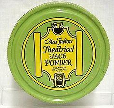 Max Factor Theatrical Face Powder Tin