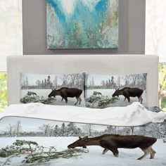 CUDEVS Norwegian Moose,King Size Sheet for Sheets Singe King Size Bed Sheets, Moose Art, Tapestry, Home Decor, Hanging Tapestry, Tapestries, Decoration Home, Room Decor, Interior Design