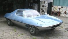Man from U.N.C.L.E. Piranha - Metallic blue, two-seater custom built stock Piranha sports car made of thermoplastic