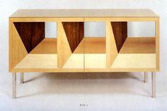 sideboard intarsia by trix & robert haussmann, 1992