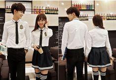CC01214 Long sleeve school uniforms college style couple clothes
