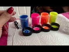 CND Shellac Nail Art & Irresistible (Lecente) Neon Nail Shadows! - YouTube