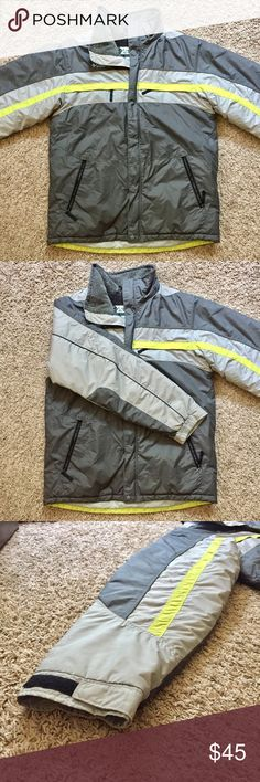 Columbia Winter Jacket A grey Columbia winter ski jacket in great quality. Size 18/19 Youth but fits as a Men's Adult Medium. Only damages is the writing on the tag shown in the last picture. Price negotiable Columbia Jackets & Coats Ski & Snowboard