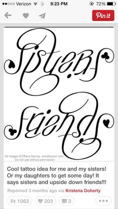 Sister tattoo @Kristen - Storefront Life - Storefront Life - Storefront Life Hodges @MacKenzie Molzhon Dillow