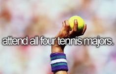 Bucket List anyone? Roland Garros, Wimbledon, US Open, & Australian Open! #tennis #ausopen www.australianopen.com want to do so much:)