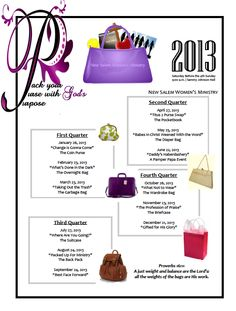 What's in Your Purse? | Women's Ministry Schedule 2013