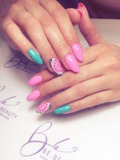 #nail #pink #watermelon 💅🏻🍉