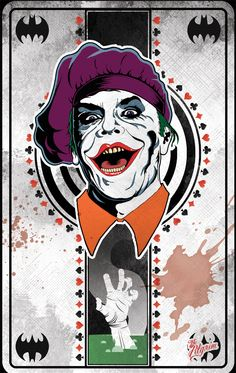 Batman Vilains - Jack Napier (Joker) by French artist: Yannis - The Pilgrim