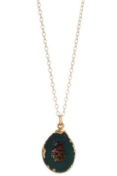 Lauren Large Brilliant Agate Geode Pendant Necklace by Dara Ettinger on @HauteLook