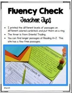 FREE CENTER: Reading fluency is such an important part of reading. Yet it's hard to find time in a busy schedule to devote to fluency activities. This is a center where two students can work together to improve their fluency skills.