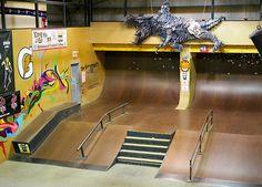 J Indoor Skatepark Etobicoke Backyard Skatepark, Study Interior Design, Urban City, Skate Park, Best Interior, Skateboarding, Photo Booth, Layout, Indoor
