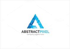 Abstract Pixel Logo by XpertgraphicD on Creative Market