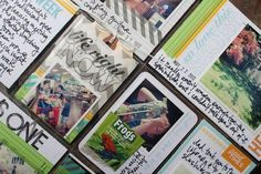 Love Lisa's use of the small chevron bag & tag for Project Llife.