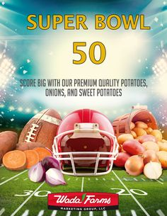 Wada Farms is excited for Super Bowl Sunday, Are you? Stay tuned for great tips and ideas to make your party a hit!