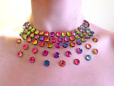 Funky and Fun Rainbow Illusion Statement Bib by SparkleBeastDesign, $23.99