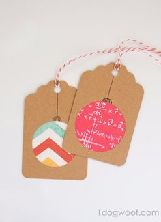Homemade Christmas Gift Tags Day 2 Scrapbook Paper Ornaments is part of home Made Tag - Check out this super simple and fun paper craft for a homemade christmas gift tag using the endless possibilities of scrapbook paper! Holiday Gift Tags, Christmas Gift Wrapping, Diy Gift Tags, Diy Gifts, Christmas Gift Cards, Christmas Tags Handmade, Christmas Scrapbook, Halloween Scrapbook, Homemade Cards