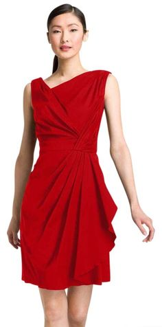 Suzi Chin For Maggy Boutique Pleated Dress. Free shipping and guaranteed authenticity on Suzi Chin For Maggy Boutique Pleated DressSuzi Chin for Maggy Boutique red pleated sleeveles...