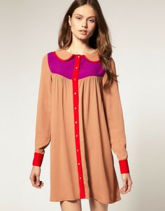 Love this: Asos Swing Dress in Colour Block @Lyst