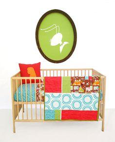 Baby Quilt , Patchwork Quilt , Play Mat , Stroller Liner , Bedding Piggy Town. $125.00, via Etsy.