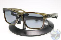 Oakley Holbrook LX Sunglasses OO2048-03 Banded Green w/ Grey Polarized Lenses