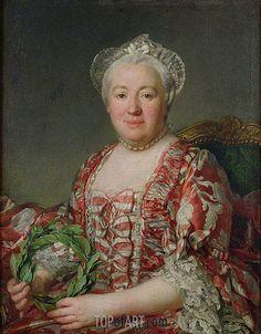 Portrait de Mme Denis, before 1775 by Joseph Siffred Duplessis (French 1725 – 1802) Musée Condé