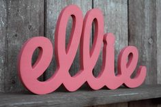 Ellie - Wooden Baby Name Signs, Initials, Personalized Gift, Handmade Wood Sign, Room Decoration, Baby Room, Newborn Gift by lucysletters123 on Etsy