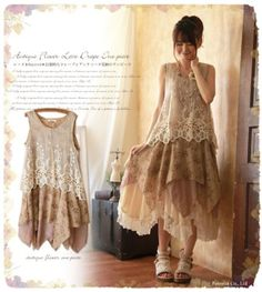 Japanese-Lolita-Retro-Mori-Girl-Style-Sleeveless-Embroidery-Lace-Dress-2-Colors