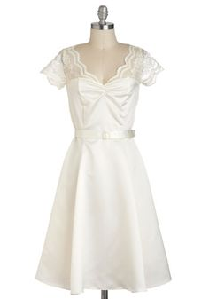 Black Tie Optimal Dress in Ivory, #ModCloth