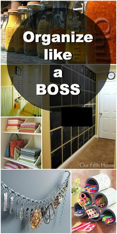 How to Organize Your Home Like a Boss. Fantastic organizing blog!!