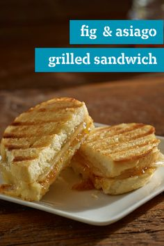 Fig & Asiago Grilled Sandwich – For an easy but elegant update to a childhood favorite, this crispy grilled cheese sandwich has it all. Our recipe has sweet jam and melty Asiago.