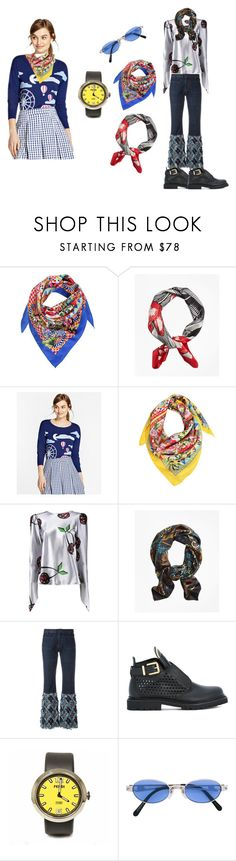 """""""Square Scarf..**"""" by yagna ❤ liked on Polyvore featuring Dolce&Gabbana, Brooks Brothers, Natasha Zinko, Jean-Paul Gaultier, Balmain, Fendi and vintage"""