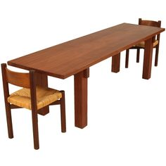 Charlotte Perriand Brasil Table In Sapele Mahogany