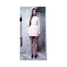 ELLERY | Apocalypse Streaky Pink Silk Structured Dress - The Dreamery via Polyvore
